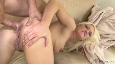 Free adult porn video featuring a Curvy busty blonde babe Whitney Grace fucked in the ass by her bestfriends husband
