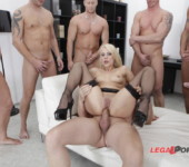 Anal penetration Beautiful blonde Brittany Love gets her ass fucked by big cocks