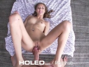Holed big dick shoved in school girl holly hendrix asshole