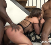 Hardcor porn Alexis Cherry blacked and DPed in hard interracial threesome