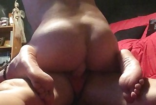 Fucking my ass with my GF's strap on