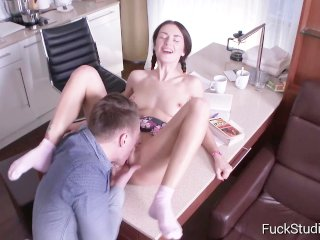 image Raunchy russian anika vice has first time anal sex