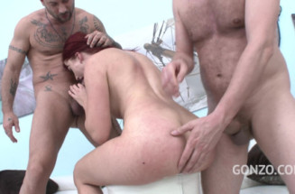 Free anal porn site presents Nicole Red welcome to Gonzo! redhead slut Airtight DP