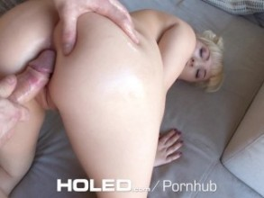 Holed quirky blonde card player velvet rain anal fucked 3