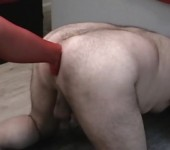 Nylon foot fisting my huge destroeyd stretched asshole