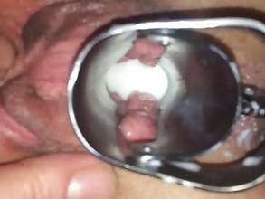 Fisting a milk filled cunt