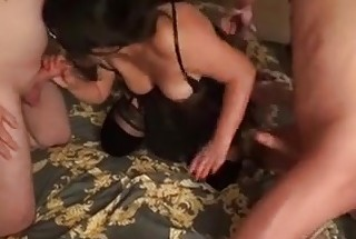 Horny wife cuckolding with 2husbands friends