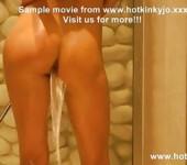 Hotkinkyjo shower enema & rosebutt
