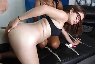 very lucky guy fuck three girls with nice asses anal hard