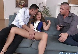 image Anally drilled eurobabe gets dp pounded